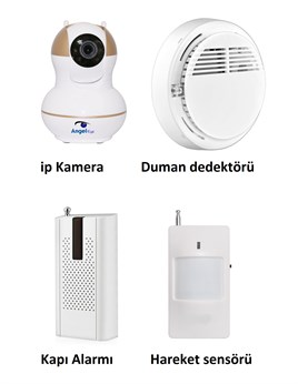 AngelEye KS-511 Full HD Wifi Ev ve Bebek iP Kamera 4in1 Full Set